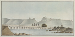 Stone bridge north of Narwar, from the north, 30th September 1818